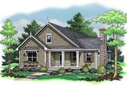 Farmhouse Style House Plan - 3 Beds 2 Baths 1599 Sq/Ft Plan #51-344 Exterior - Front Elevation