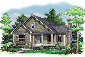 Farmhouse Exterior - Front Elevation Plan #51-344