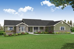 House Blueprint - Ranch Exterior - Front Elevation Plan #124-1232