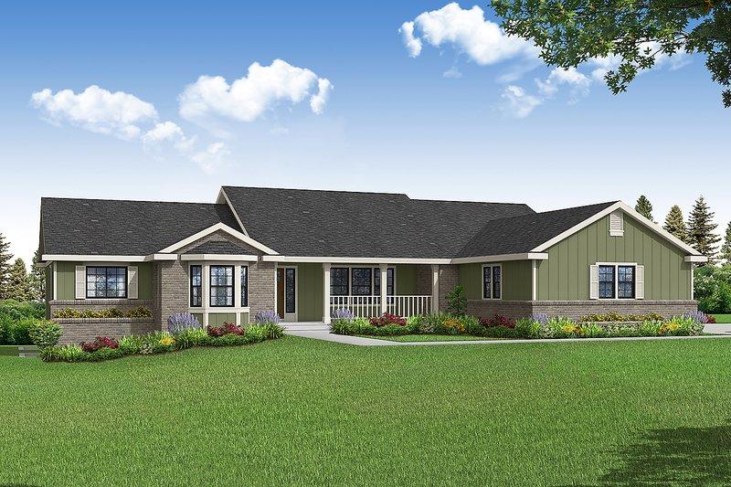 House Plan Design - Ranch Exterior - Front Elevation Plan #124-1232