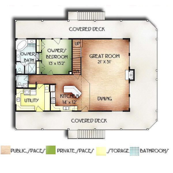 Traditional Floor Plan - Main Floor Plan #24-272