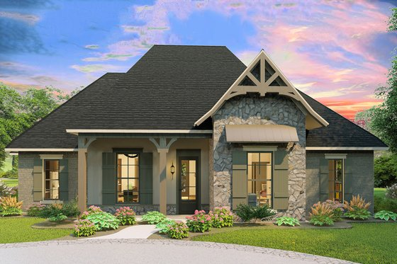 Cottage Exterior - Front Elevation Plan #406-9654