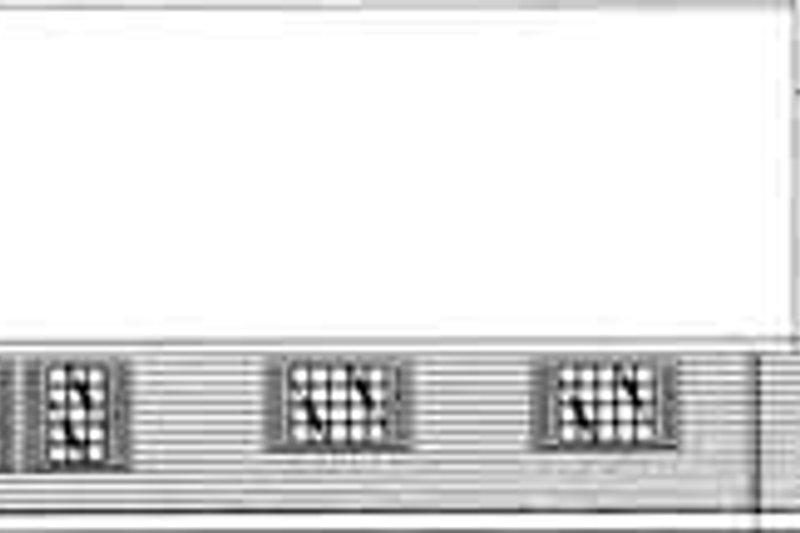 Traditional Exterior - Rear Elevation Plan #117-323 - Houseplans.com