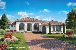 Dream House Plan - Mediterranean Exterior - Front Elevation Plan #930-501