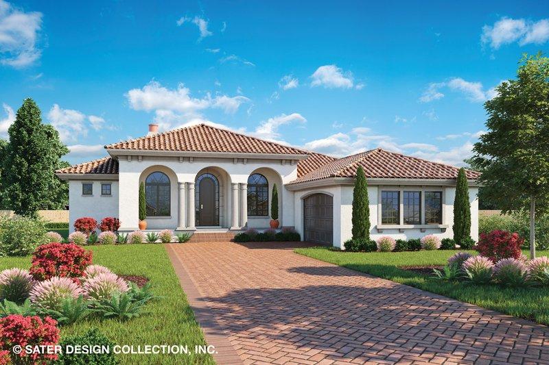 Mediterranean Style House Plan - 3 Beds 2.5 Baths 2250 Sq/Ft Plan #930-501