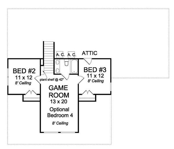 Craftsman Floor Plan - Upper Floor Plan Plan #513-2065