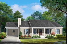 Architectural House Design - Ranch Exterior - Front Elevation Plan #22-588