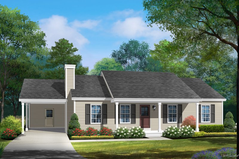 Home Plan - Ranch Exterior - Front Elevation Plan #22-588