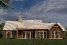 House Plan Design - Farmhouse Exterior - Rear Elevation Plan #923-181