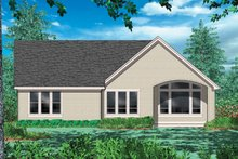 Cottage Exterior - Rear Elevation Plan #48-102