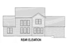 Country Exterior - Rear Elevation Plan #46-440