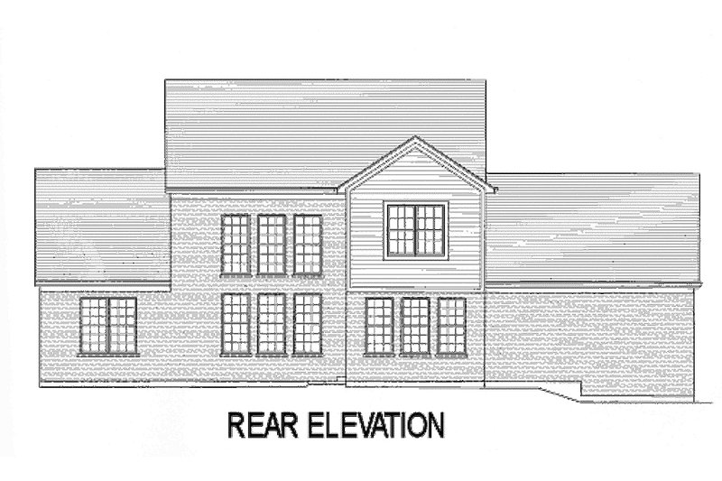 Country Exterior - Rear Elevation Plan #46-440 - Houseplans.com