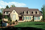 European Style House Plan - 4 Beds 5.5 Baths 5381 Sq/Ft Plan #453-15 Exterior - Front Elevation