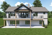 Craftsman Style House Plan - 3 Beds 2.5 Baths 2964 Sq/Ft Plan #1070-128 Exterior - Rear Elevation