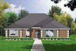 Home Plan - Traditional Exterior - Front Elevation Plan #40-325
