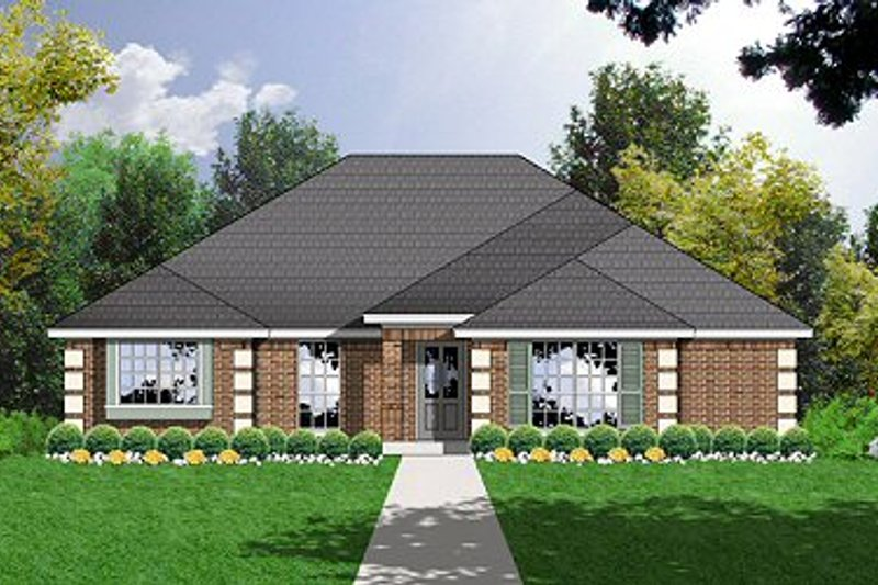 Traditional Exterior - Front Elevation Plan #40-325 - Houseplans.com