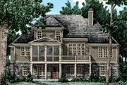 European Style House Plan - 3 Beds 2.5 Baths 2066 Sq/Ft Plan #927-39 Exterior - Rear Elevation