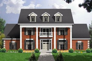 Southern Exterior - Front Elevation Plan #40-112