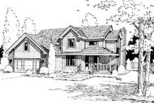 Traditional Exterior - Front Elevation Plan #20-767