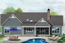 Architectural House Design - Ranch Exterior - Rear Elevation Plan #929-1085