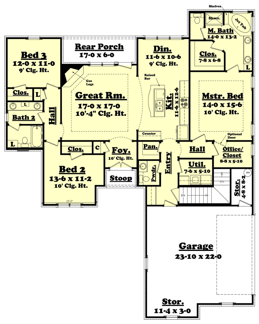 Traditional Style House Plan 3 Beds 2 5 Baths 1800 Sq Ft Plan 430 60 Eplans Com