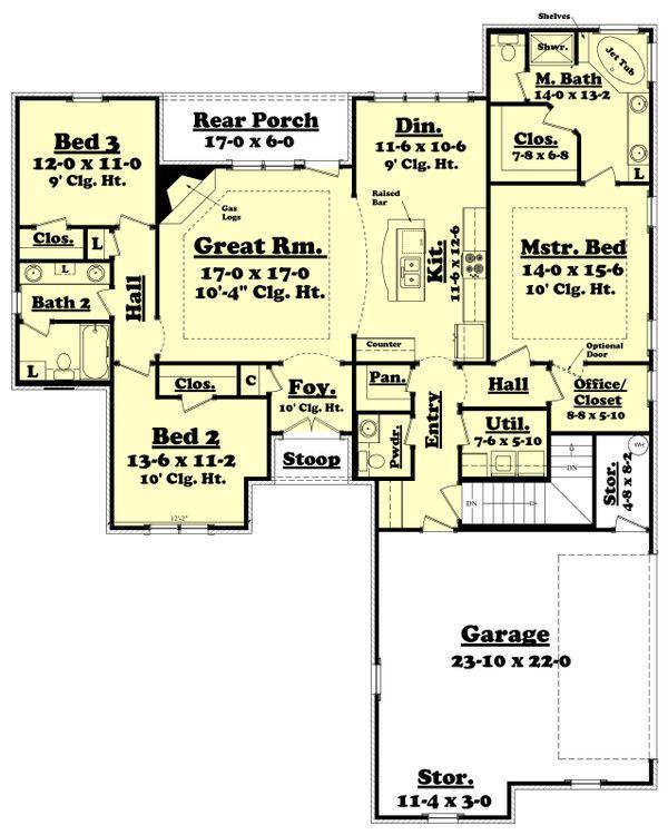 House Plan Design - Optional Basement Stair Location