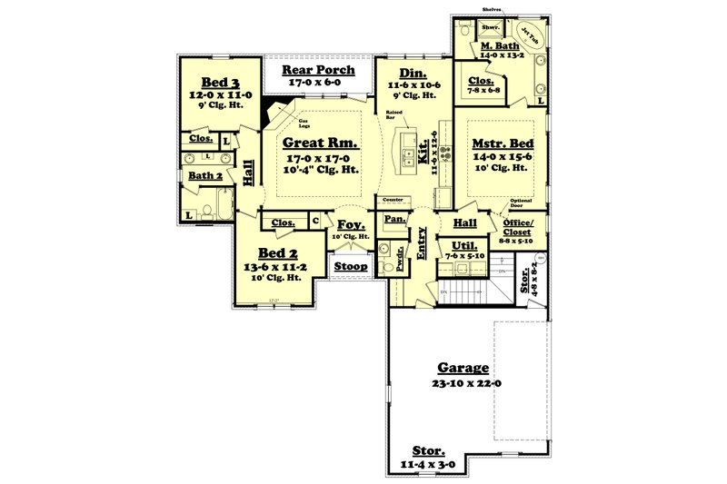 Traditional Style House Plan 3 Beds 2 5 Baths 1800 Sq Ft Plan 430 60