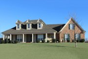 Farmhouse Style House Plan - 4 Beds 3.5 Baths 2711 Sq/Ft Plan #329-263 Exterior - Front Elevation