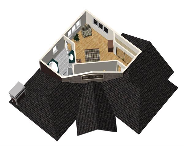 Country Floor Plan - Upper Floor Plan Plan #25-4743