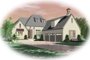 Colonial Exterior - Front Elevation Plan #81-1614