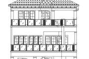 Mediterranean Style House Plan - 3 Beds 3.5 Baths 2664 Sq/Ft Plan #548-9 Exterior - Rear Elevation