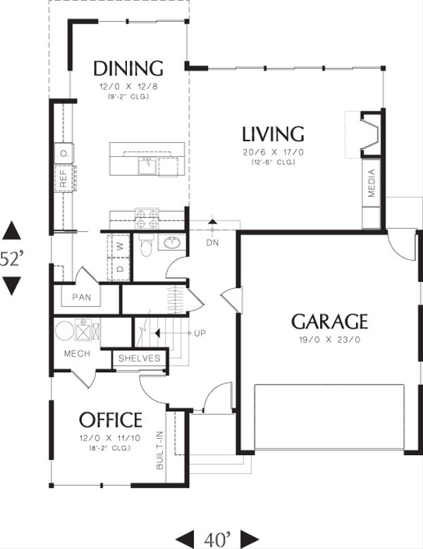 Modern Floor Plan - Main Floor Plan Plan #48-637