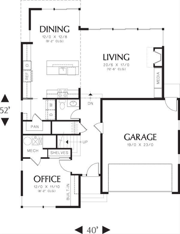 Modern Floor Plan - Main Floor Plan Plan #48-637