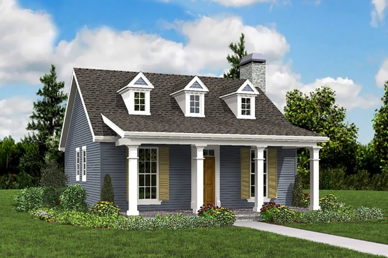 Cottage Exterior - Front Elevation Plan #48-951