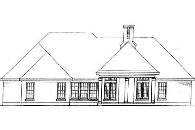 European Exterior - Rear Elevation Plan #410-138 - Houseplans.com