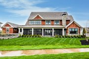 Craftsman Style House Plan - 4 Beds 6.5 Baths 4491 Sq/Ft Plan #928-321 Exterior - Rear Elevation