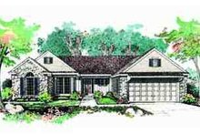 Home Plan - Ranch Exterior - Front Elevation Plan #72-215