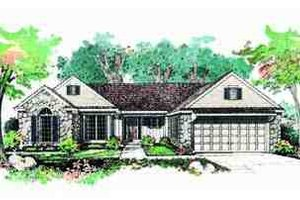 Ranch Exterior - Front Elevation Plan #72-215
