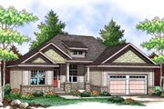 Craftsman Style House Plan - 3 Beds 2 Baths 1509 Sq/Ft Plan #70-903 Exterior - Front Elevation