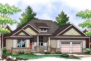 Craftsman Exterior - Front Elevation Plan #70-903