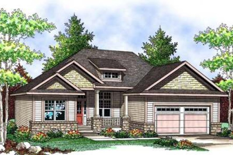 Craftsman Exterior - Front Elevation Plan #70-903