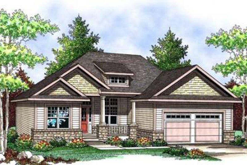 Architectural House Design - Craftsman Exterior - Front Elevation Plan #70-903
