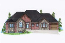 Home Plan - Traditional Exterior - Front Elevation Plan #5-286