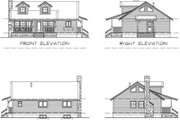 Country Style House Plan - 2 Beds 1 Baths 1064 Sq/Ft Plan #47-379 Exterior - Rear Elevation