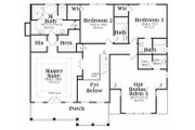 Traditional Style House Plan - 4 Beds 4 Baths 2739 Sq/Ft Plan #419-140 Floor Plan - Upper Floor Plan