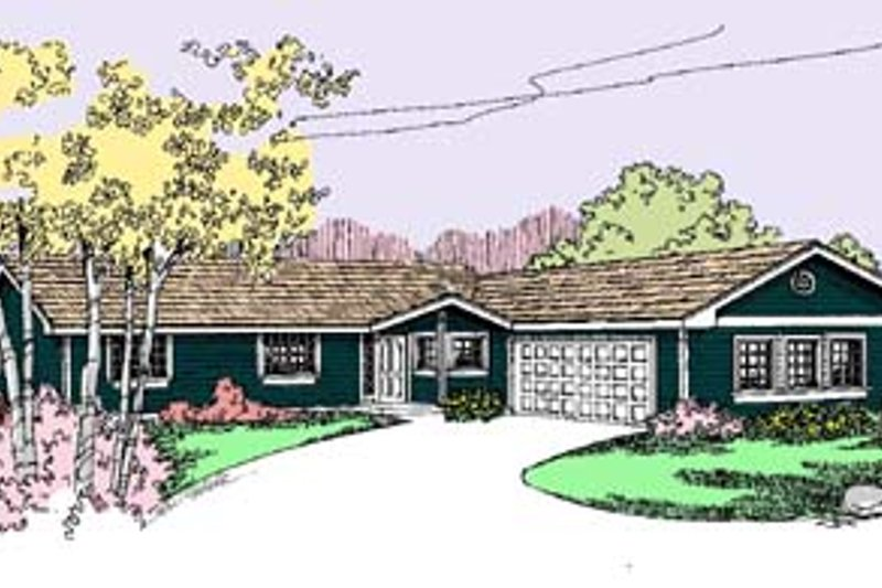 Dream House Plan - Ranch Exterior - Front Elevation Plan #60-548