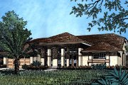 Mediterranean Style House Plan - 4 Beds 2 Baths 2153 Sq/Ft Plan #417-202 Exterior - Front Elevation