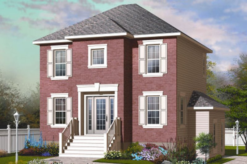 Country Exterior - Front Elevation Plan #23-2193 - Houseplans.com