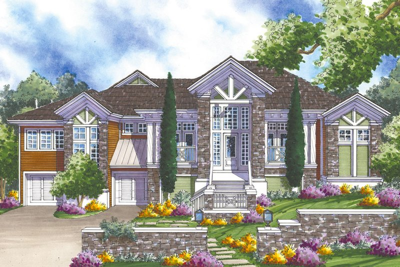 Architectural House Design - Country Exterior - Front Elevation Plan #930-174