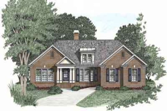 Traditional Exterior - Front Elevation Plan #129-101